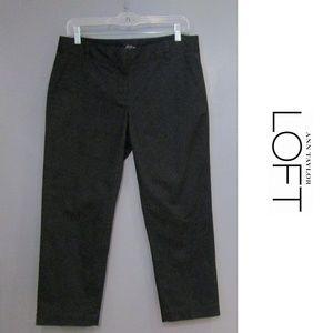 LOFT Black Cropped Capris Pants Size 6
